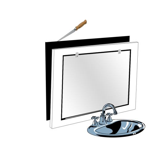remove mirror from the wall by drywall