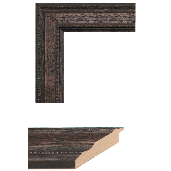 distressed walnut mirror frame samples
