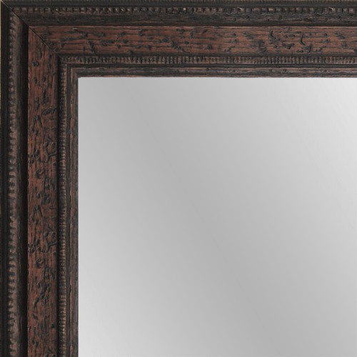 1584 Distressed Walnut Framed Mirror