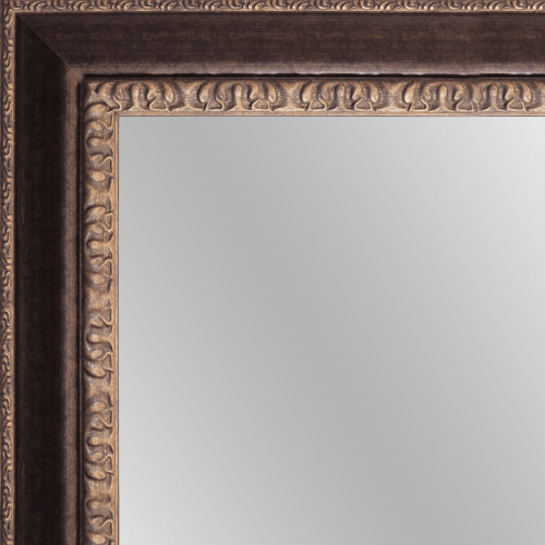 1654 Bronze Framed Mirror
