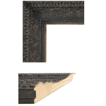 2436 Aged Black Mirror Frame Sample