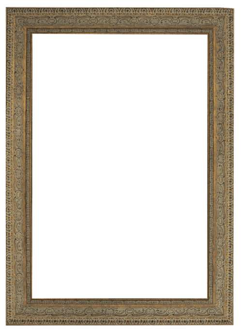 aged dark gold mirror frame