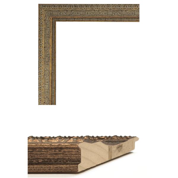 aged dark gold mirror frame samples