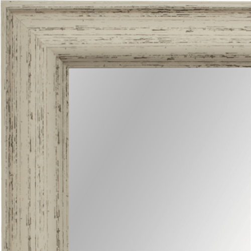 4023 Rustic White Framed Mirror