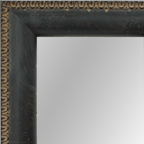 4025 Reverse Black Framed Mirror
