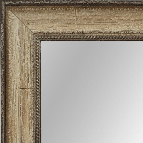 4026 Distressed Cream Framed Mirror