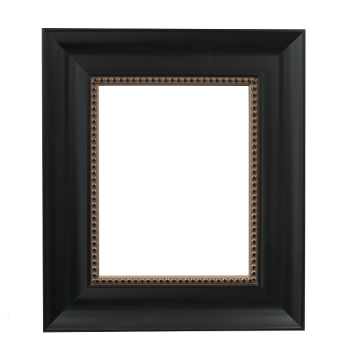 black with beading mirror frame