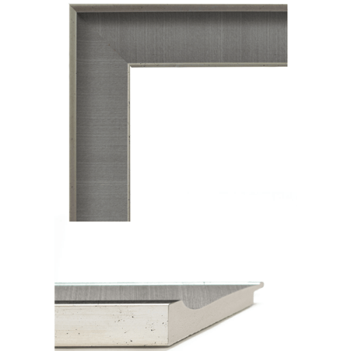 4042 Grey Linen Mirror Frame Sample