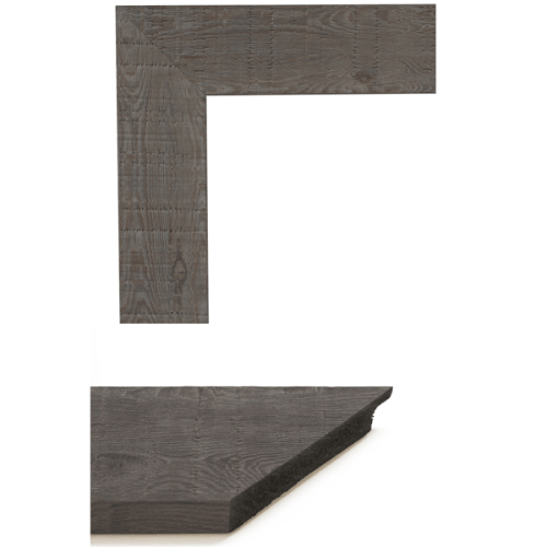 4065 Lt Grey Oakwood Mirror Frame Sample