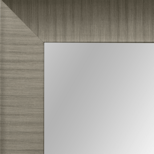 4083 silver framed mirror