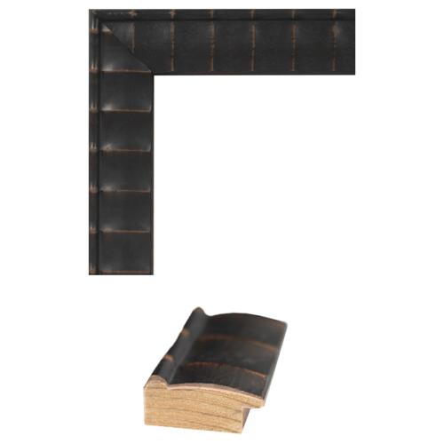 4105 Brown Rub Mirror Frame Sample