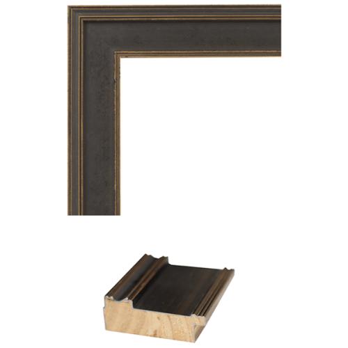 4106 Black & Gold Mirror Frame Sample