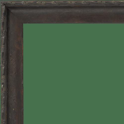 4113 Dark Walnut Distressed Mirror Frame
