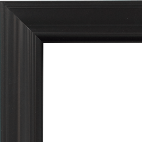 4121 Black Satin Mirror Frame