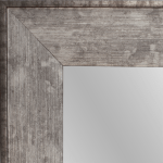 4141 Charred Silver Framed Mirror