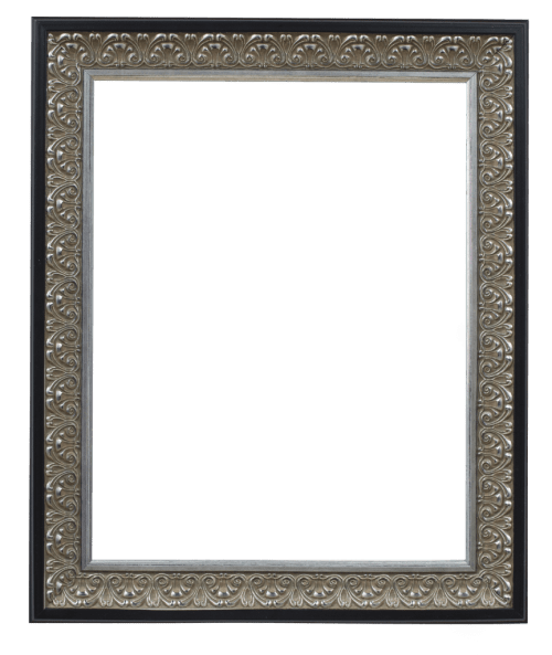 antique silver with black mirror frame