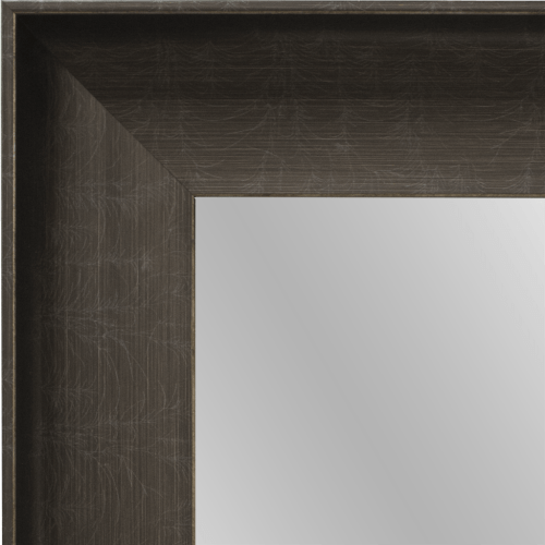 4084 Pewter Black Framed Mirror