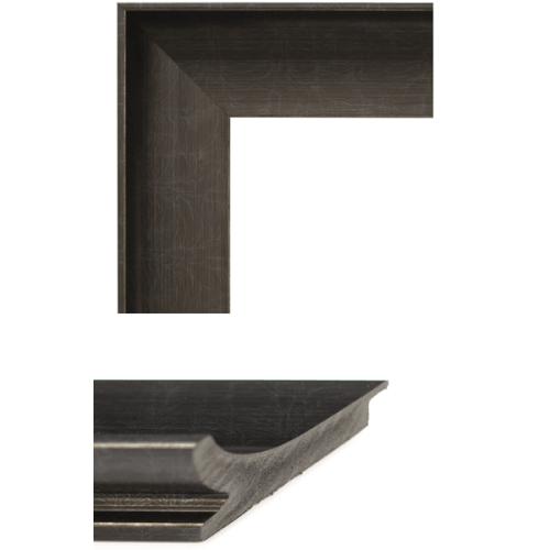 4084 Pewter Black Mirror Frame Sample
