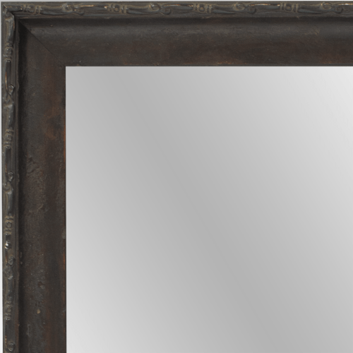 4113 Dark Walnut Distressed Framed Mirror