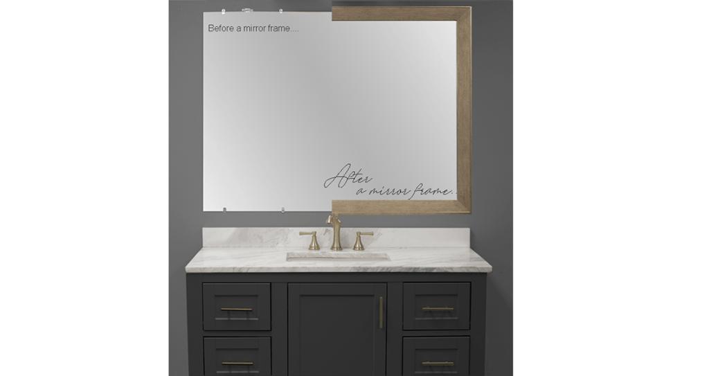 mirror frame on plain mirror