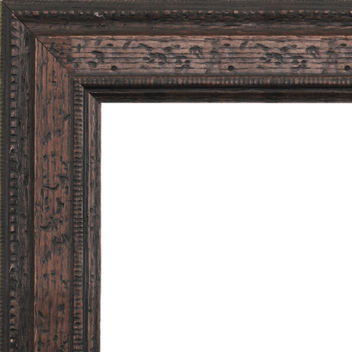 1584 Distressed Walnut Mirror Frame
