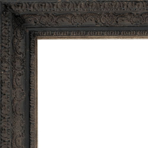 2435 Aged Black Mirror Frame