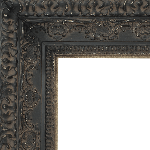 2436 Aged Black Mirror Frame