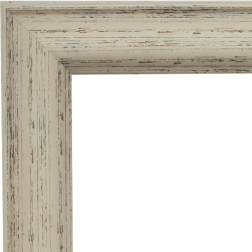 4023 Rustic White Mirror Frame