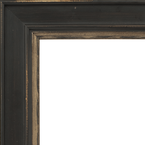 4024 Brown Flat Champagne Mirror Frame