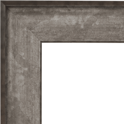 4043 Silver Wash Mirror Frame