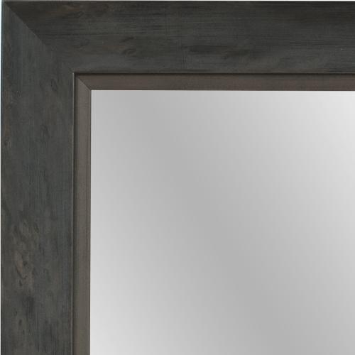 4059 grey silver framed mirror