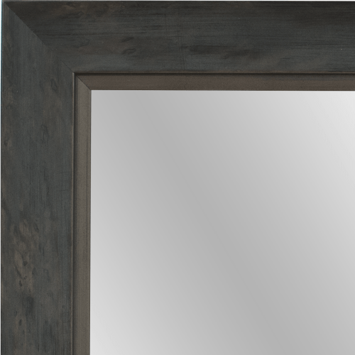 4059 Grey Silver Framed Mirror