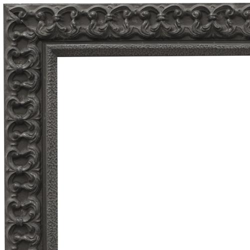 4102 Black Fleur Mirror Frame