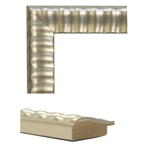 4142  Silver Leaf Mirror Frame Sample