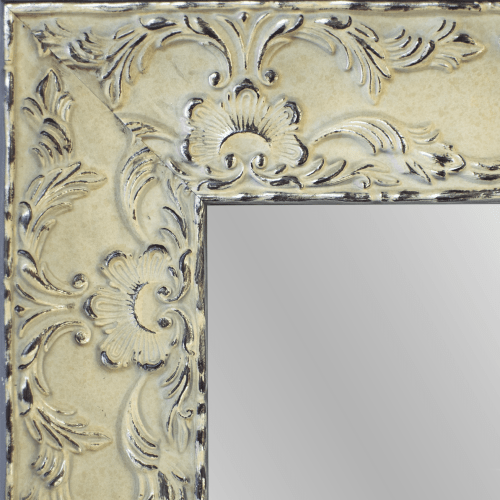 4151 Renaissance Antique White Framed Mirror