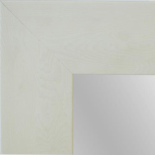 Rustic white framed mirror