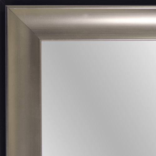 4164 Tempo Pewter Scoop Framed Mirror