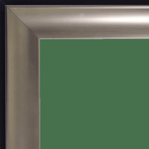 4164 Tempo Pewter Scoop Mirror Frame