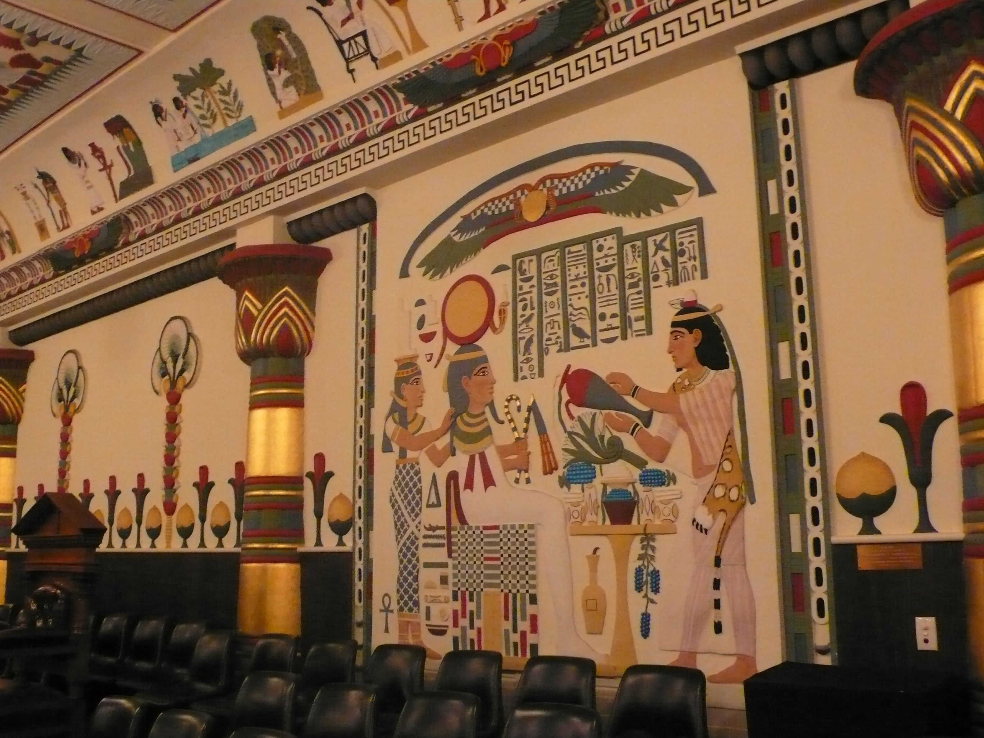 egyptian interior architecture