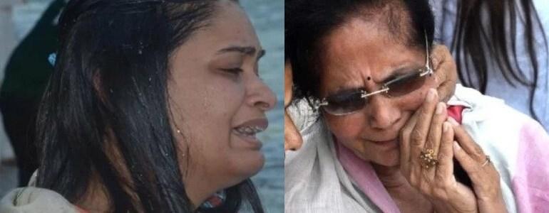 अस्थि विसर्जन के वक्त फूट-फूट कर रोए रोहित शेखर की मां और पत्नी, मौत को लेकर मां ने कही ये बात