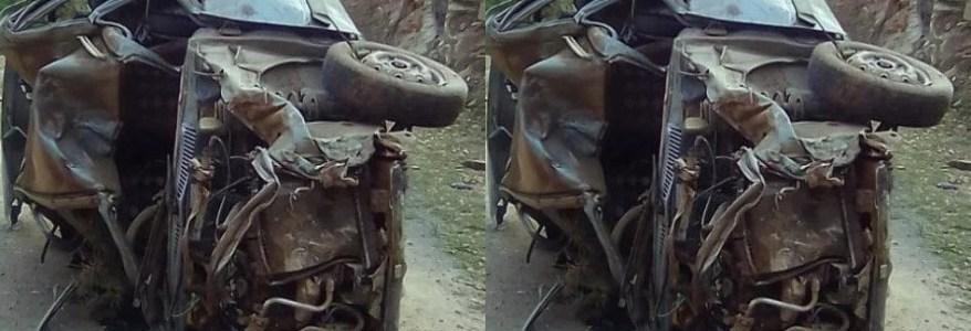 उत्तराखंड में भीषण सड़क हादसे में पहाड़ से नीचे गिरी कार, तीन लोगों की मौत