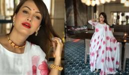 तस्वीरें : अभिनेत्री निशा रावल ने पहना पहाड़ी पोन्जी और गलोबंद, उत्तराखंड की हैं छोटे पर्दे की ये प्रसिद्ध अभिनेत्री