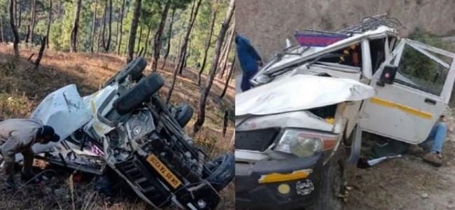 Uttarakhand दो भीषण दुर्घटना में 4 यात्रियों की मौत, 10 घायल, एक ही जिले में हई दोनों दुर्घटना
