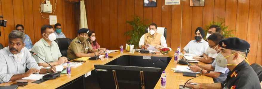 मुख्यमंत्री धामी ने प्रदेश में अतिवृष्टि और आपदा प्रबंधन की समीक्षा की, अधिकारियों को अलर्ट रहने को कहा