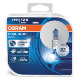 Лампа OSRAM Cool Blue Boost H1 12V 80W 2шт. 62150CBB-HCB