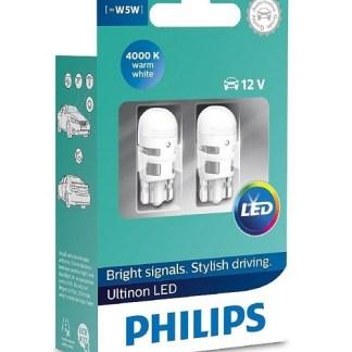 Лампа габаритная PHILIPS T10 4000K 11961ULWX2