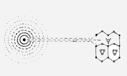 Проникновение луча разума в кристаллическую решетку материи