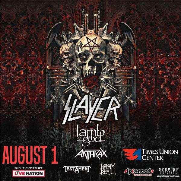 Slayer to Bring Their Final Tour to Albany in August