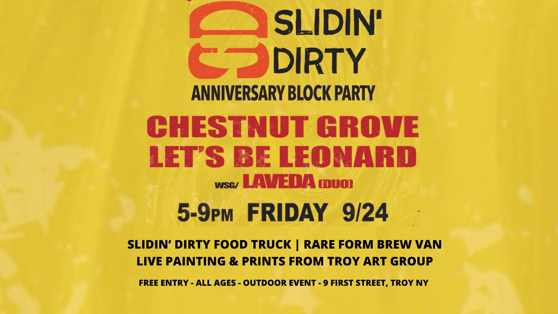 Slidin' Dirty Set To Throw Anniversary Block Party in Troy, NY