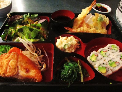 Weekly Photo Challenge: Lunchtime. Salmon Bento Box